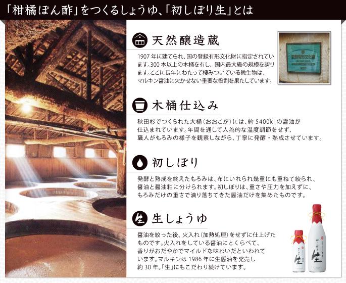 柑橘ぽん酢 木桶仕込み 天然醸造蔵